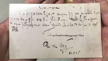 La lettre anarchiste codée trouvée aux Archives de l'Etat à Liège