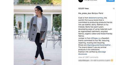 Emma Watson fait la promotion de la mode éco-respectueuse sur Instagram