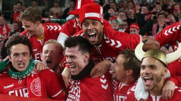 Les joueurs de l'équipe nationale danoise