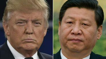 Montage photos du 4 avril 2017 du président américain Donald Trump (g) et de son homologue chinois Xi Jinping