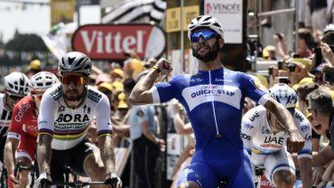Gaviria remporte la 1ère étape et prend le jaune, Froome et Quintana perdent du temps