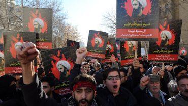 L'exécution le 2 janvier de 47 personnes dont un chef religieux chiite a soulevé une vague de protestation comme ici en Iran