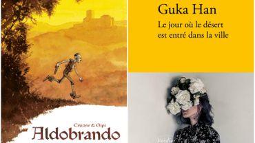 """Couvertures d'""""Aldobrando"""" et de """"Le jour où le désert est entré dans la ville"""""""