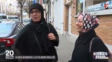 Reportage sur Molenbeek-Saint-Jean diffusé dans le JT de France 2 du lundi 16 novembre.