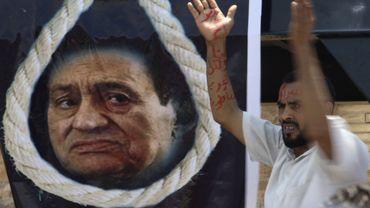 Manifestation lors du procès d'Hosni Moubarak.