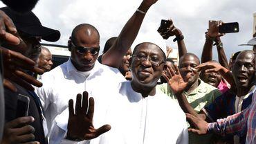 Le leader de l'opposition et candidat à la présidentielle au Mali, Soumaïla Cissé, à Bamako le 13 août 2018, au lendemain du vote dont il rejette par avance les résultats