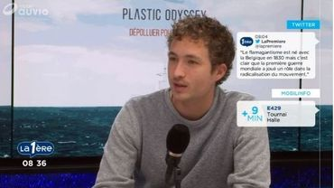 Simon Bernard, ingénieur diplômé de l'École de la Marine marchande,  s'est lancé dans un projet un peu fou: créer un bateau qui sillonnera les mers pour récupérer le plastique, et aussi le réutiliser.