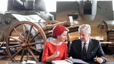 Le Roi et la Reine en visite au War Memorial Museum