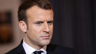 Le président français Emmanuel Macron, le 23 décembre 2017 à Niamey