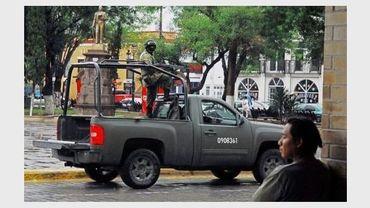 Des soldats mexicains en patrouille dans les rues de Matamoros, dans l'Etat du Tamaulipas