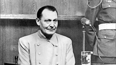 Hermann Gôring lors de son procès à Nuremberg en 1946
