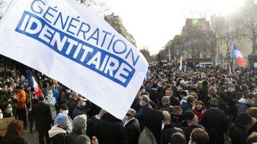 """Dries Van Langenhove, député belge, présent à la manifestation de """"Génération identitaire"""" à Paris"""
