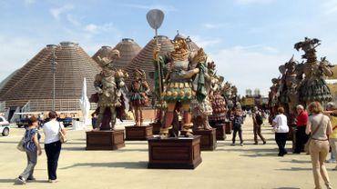 L'entrée de l'exposition universelle de Milan