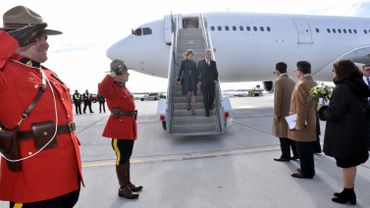 L'arrivée de Philippe et Mathilde à Ottawa.