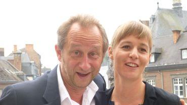 Chloé Colpé et Benoit Poelvoorde, à l'initiative de l'Intime Festival