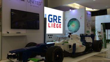 Un bolide de Formule 1 aux couleurs du redéploiement économique liégeois