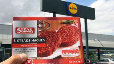 Mise en cause des steaks hachés de la marque Steaks Country en vente dans des magasins Lidl