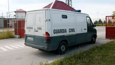 Un fourgon de la Guardia Civil