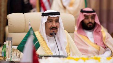 Le roi d'Arabie Saoudite Salmane ben Abdelaziz Al Saoud, à Ryad le 21 m