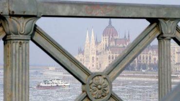 Vue du Parlement hongrois, à Budapest,le 10 février 2012