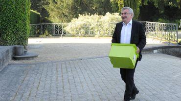 """Le ministre wallon du Tourisme René Collin (cdH) a annoncé ce jeudi la labellisation de 18 nouveaux établissements """"Clé Verte"""" en 2017, lors d'une visite au Château de Namur."""