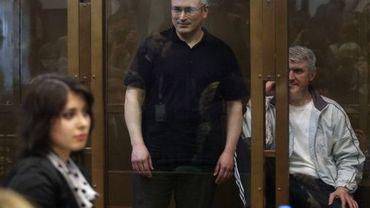 Mikhaïl Khodorkovski lors de son procès