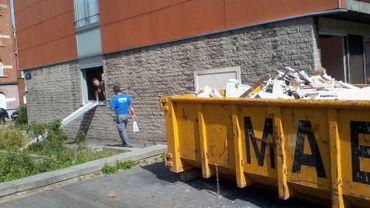 Un manque de sécurisation du chantier du Foyer Schaerbeekois.
