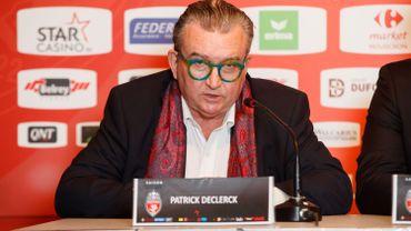 Patrick Declerck, président de Mouscron