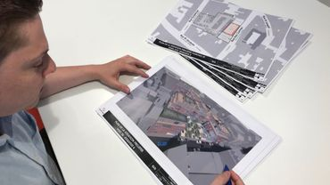 Le bureau d'architectes Buro5, à Nannine, figure parmi les utilisateurs de l'OpenData de Namur pour travailler sur ses projets. Le bureau utilise notamment les données 3D pour gagner du temps.