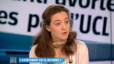 """La porte-parole de la """"Marche pour la Vie"""", Constance Du Bus"""
