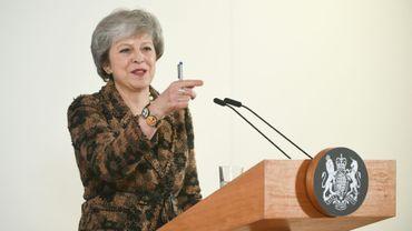 La Première ministre Theresa May lors d'une conférence de presse le 14 décembre 2018 à Bruxelles