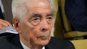 L'ex-général argentin Luciano Menendez au cours de son procès pour violations des droits de l'homme à Cordoba le 14 mars 2013.