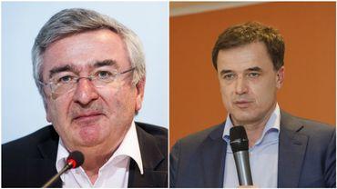 René Collin (ministre de l'Agriculture) et Benoit Lutgen (bourgmestre de Bastogne.