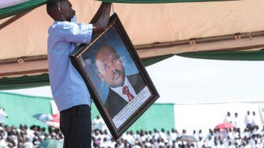 Le portrait de l'ancien président Nkurunziza.