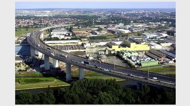 Le centre commercial devait s'installer à deux pas du viaduc de Vilvorde.