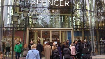Le magasin Marks & Spencer de Bruxelles est resté fermé ce mardi