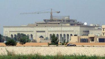 Vue extérieure de l'ambassade américaine en date du 11 octobre 2007 à Bagdad