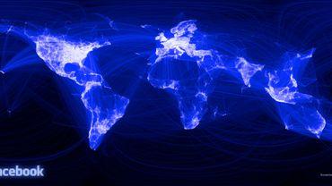 L'activité Facebook dans le monde.