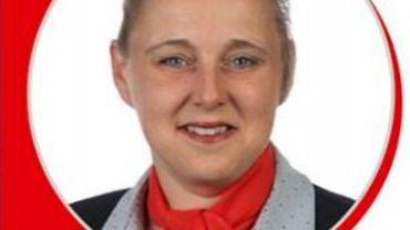 Florence Lecompte, tête de liste PS à Quévy