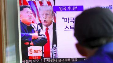 Les altercations entre Kim Jong-Un et Donald Trump font la Une des médias en Corée du Sud.