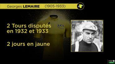 Ces Belges qui ont porté le maillot jaune: Georges Lemaire