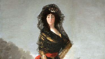 """""""Portrait de la duchesse d'Albe en noir"""" - Francisco de Goya, 1797"""