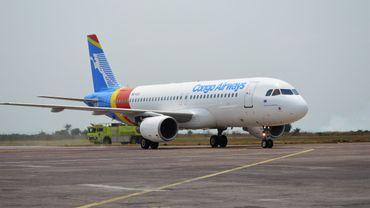 """L'Airbus A 320 """"Patrice Emery Lumumba"""" de Congo Airways."""
