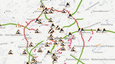 Accident sur le Ring extérieur à Wemmel, 2 heures d'attente