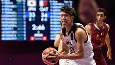 L'un des basketteurs renvoyés, le Japonais Takuma Satos, lors d'un match face au Qatar aux Jeux asiatiques à Jakarta, le 16 août 2018