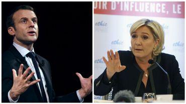 Présidentielle: Macron passe devant Le Pen au premier tour dans un sondage
