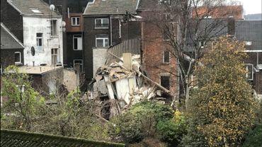 L'explosion a provoqué beaucoup de dégâts surtout à l'arrière des bâtiments