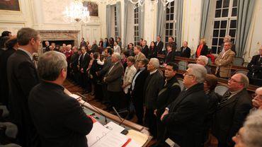 Archive: le dernier conseil communal liégeois auquel a participé Didier Reynders