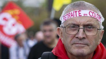 Partout, l'augmentation de l'âge de la pension provoque des grincements de dents. Ici, un manifestant français en septembre 2014