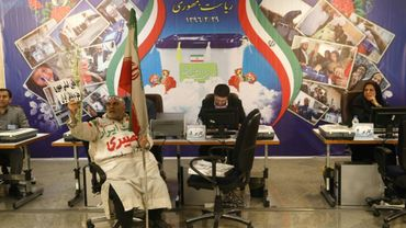 Dans le bureau des élections du ministère iranien de l'Intérieur, le 11 avril 2017 à Téhéran